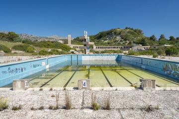 Abandoned lido on Rhodes, Greece.