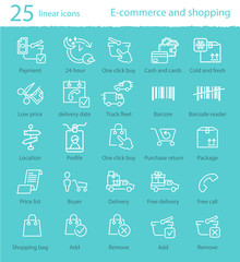 Vector e-commerce icons