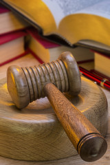 Auctioneer or Judges Gavel - Isolated