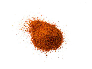Cayenne pepper - Red chilli powder isolated on white background