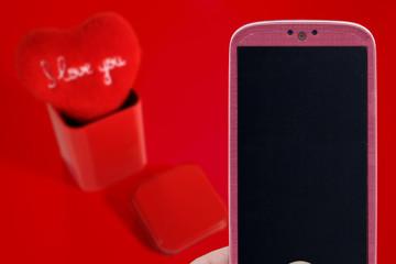 Valentines message - Pink Smartphone