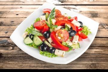 Wall Mural - Salad, food, onion.