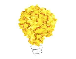 paper light bulb