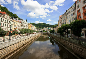 Channel in the Czech town Karlovy vary
