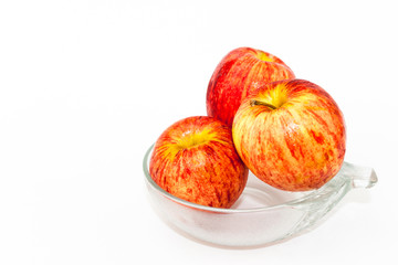 Red Apple in bowl