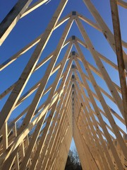 timber roof truss construction