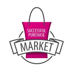 vector logo shopping bag on the market