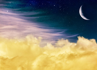 Wall Mural - Fantasy Moon and Clouds