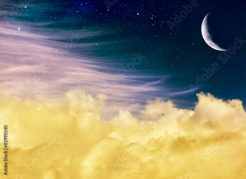 Wall mural Fantasy Moon and Clouds