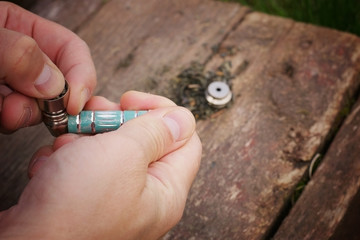 Pipe for tobacco smoking marijuana