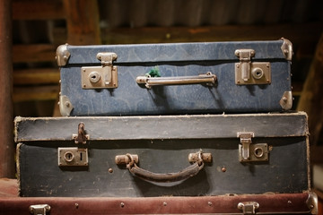 Retro vintage suitcases