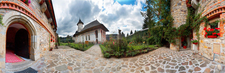 Monastery Museum at Moldovita monastery in Romania