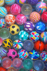 Bunch of various bouncing balls for kids