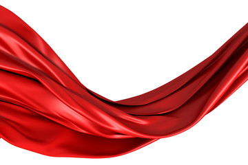 Red Smooth Cloth Background