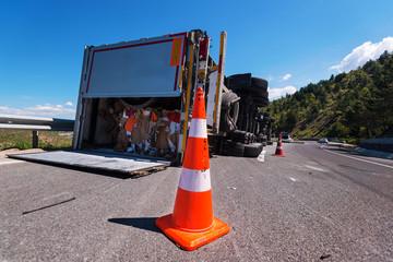 crashed truck