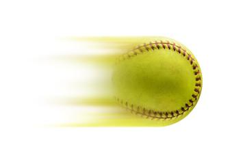 Full speed. Ball, softball, baseball