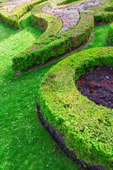 Foto op Canvas Rivier ornamentaler Garten