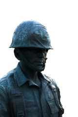 Stock Photo - cut out statue of soldier, can be used on any mili