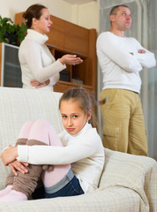 Family with daughter having conflict