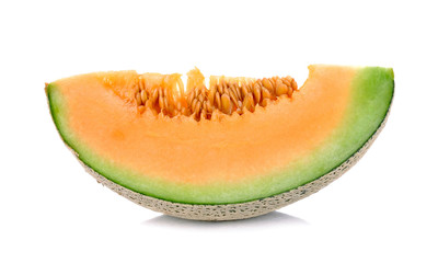 Slices Melon isolated on the white background