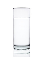 Water of glass isolated on the white background
