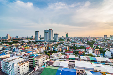 Twilight view bangkok city.