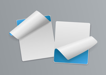 3d White and Blue Note Paper Background