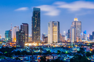 Twilight view bangkok city.