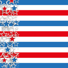 Abstract US-Flag Cover Stars Stripes