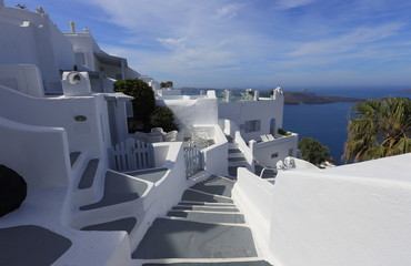Classic white architecture of Santorini, Greece