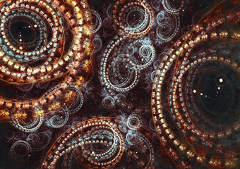 Abstract steampunk cogwheel background