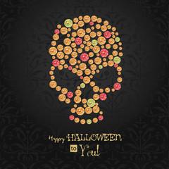 Halloween poster. Dia de los muertos