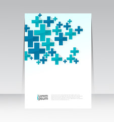 Vector design Medical Cover Report background in A4 size