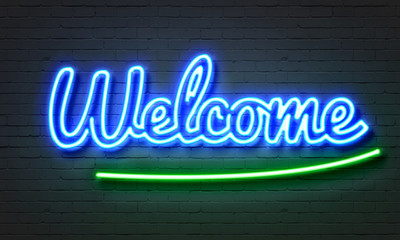 Welcome neon sign