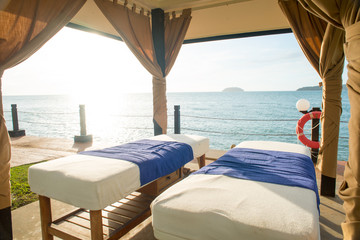 massage bed by the beach