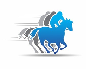 blue horserace image vector