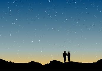 Couple silhouette twilight 6