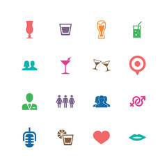 bar icons universal set