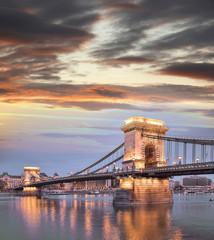 Chain Bridge in Budapest, capital city of Hungary