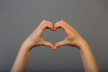 Hands heart symbol