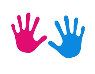 Hand in Pink und bBau