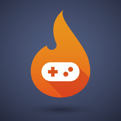 Flame icon with a game pad