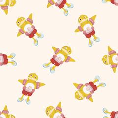 animal duck summer cartoon , cartoon seamless pattern background