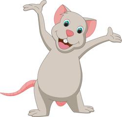 cuute mouse cartoon presenting