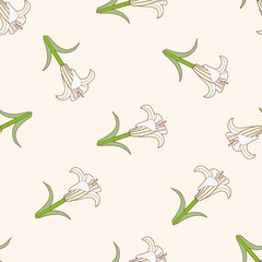 flower , cartoon seamless pattern background