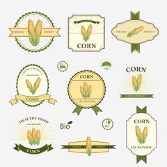 Corn, set of label design