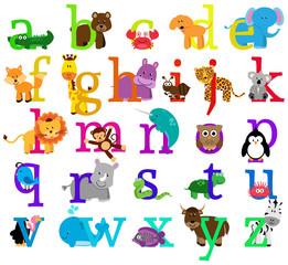 Vector Animal Themed Alphabet