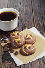 Cookies with coffee cup