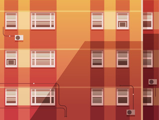 Wall of the building. Vector illustration.