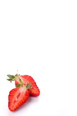 Close up sweet strawberries isolated